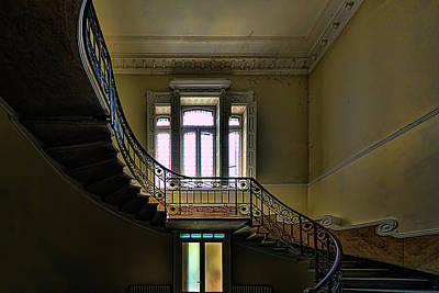 Photograph - The Villa Of The Great Staircase - La Villa Dello Scalone by Enrico Pelos