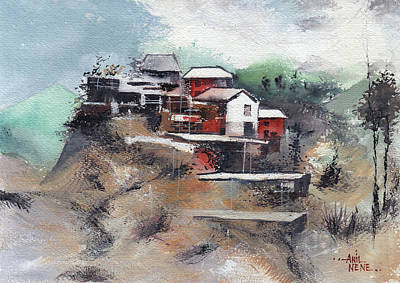 Painting - The Village by Anil Nene