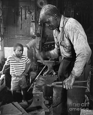 Old Grandfather Time Photograph - The Village Blacksmith by Rodger Painter
