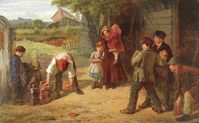 The Village Game Art Print by William Henry Knight