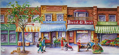 Painting - The Village by Margit Sampogna