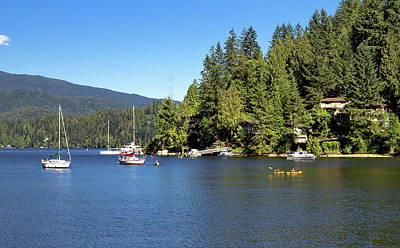 The Village On The Slope Of  Deep Cove Art Print