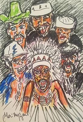 Disco Drawing - The Village People by Geraldine Myszenski