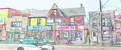 Digital Art - The Village Strip by Ian  MacDonald