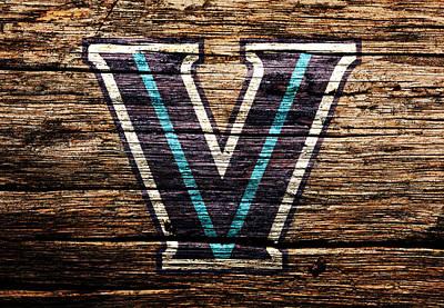 Murphy Mixed Media - The Villanova Wildcats 1c by Brian Reaves