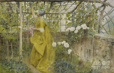 Vine Painting - The Vine, 1884 by Carl Larsson
