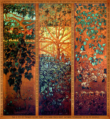 Vines Painting - The Vine And The Branches by Laura Sotka