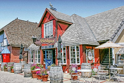 Photograph - The Vinhus In Solvang by Gabriele Pomykaj