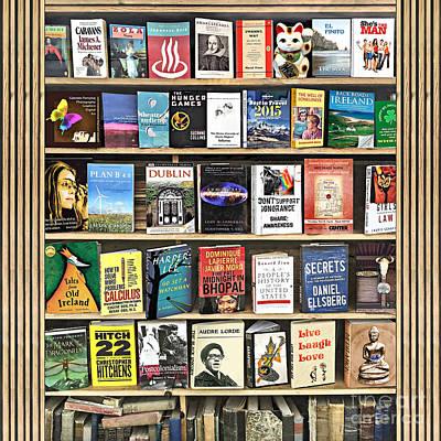 Photograph - The Vintage Book Shelf by Gabriele Pomykaj
