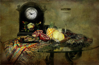 The Vintage Clock Print by Diana Angstadt