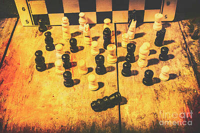 Chess Photograph - The Vintage End Game by Jorgo Photography - Wall Art Gallery