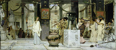 Painting - The Vintage Festival In Ancient Rome by Sir Lawrence Alma Tadema