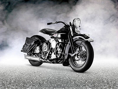 Harley Davidson Photograph - The Vintage Knucklehead by Mark Rogan