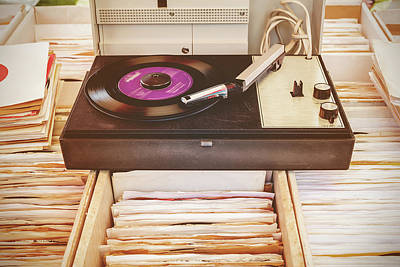Classic Audio Player Photograph - The Vintage Turntable by Martin Bergsma