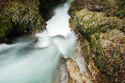 Photograph - The Vintgar Gorge, Gorje, Near Bled, Slovenia by Ian Middleton