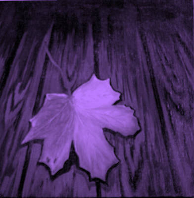 The Violet Leaf Art Print by Ninna
