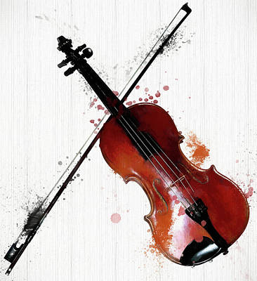 Painting - The Violin And Bow by Dan Sproul