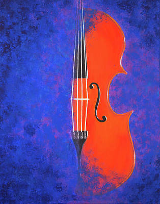 Painting - The Violin Sings At Night by Iryna Goodall
