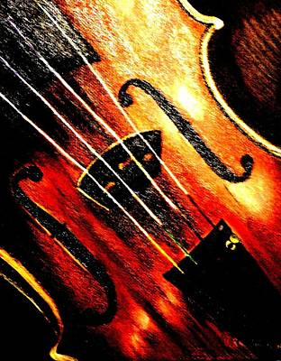 Painting - The Violin by Victoria Rhodehouse