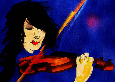 Digital Art - The Violinist by Brett Shand