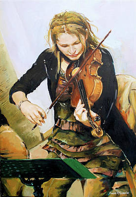 Violin Painting - The Violinist by Conor McGuire