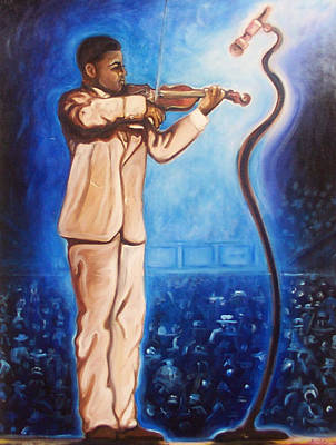 Art Print featuring the painting The Violinist by Emery Franklin