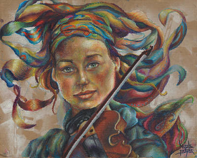 The Violinist  Art Print by Nicole Fisher