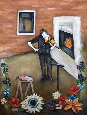 Painting - The Violinist by Stephanie Callsen
