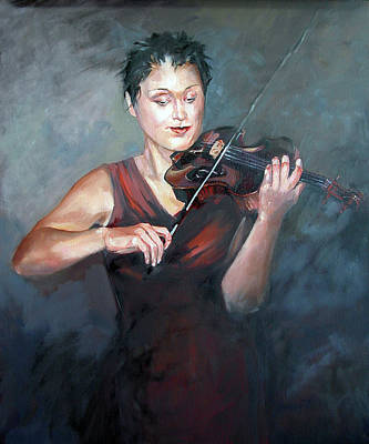 Painting - The Violinist by Synnove Pettersen