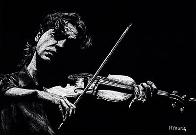 Celebrities Royalty-Free and Rights-Managed Images - The Violist by Richard Young