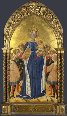 Digital Art - The Virgin And Child With Six Angels And Two Cherubim by Francesco dAntonio di Bartolomeo