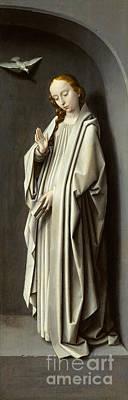 Hail Mary Painting - The Virgin Annunciate by Gerard David