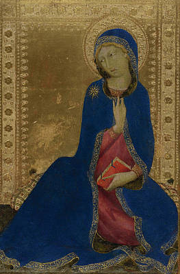 Martini Painting Royalty Free Images - The Virgin Annunciate Royalty-Free Image by Celestial Images