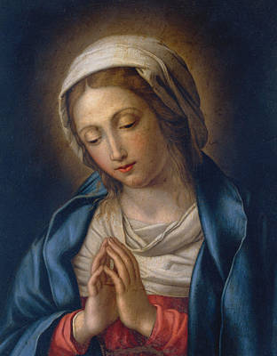 Jesus Painting - The Virgin At Prayer by Il Sassoferrato