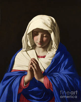 Painting - The Virgin In Prayer by Celestial Images