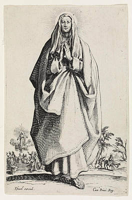 Drawing - The Virgin Mary by Jacques Callot