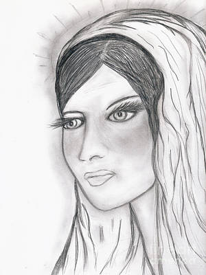 The Virgin Mary Art Print by Sonya Chalmers