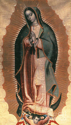 Black Madonna Painting - The Virgin Of Guadalupe by Granger