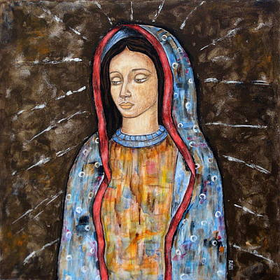 Virgen De Guadalupe Painting - The Virgin Of Guadalupe by Rain Ririn