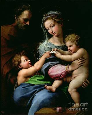 The Virgin Of The Rose Art Print by Raphael