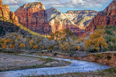 Photograph - The Virgin River by Utah Images