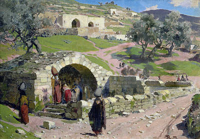 Israeli Painting - The Virgin Spring In Nazareth by Vasilij Dmitrievich Polenov