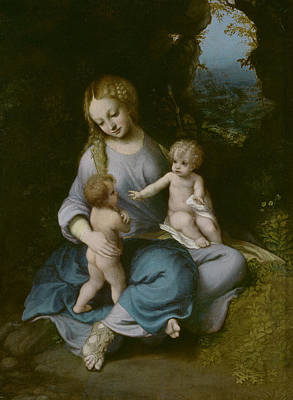Painting - The Virgin, The Child And Saint John by Correggio