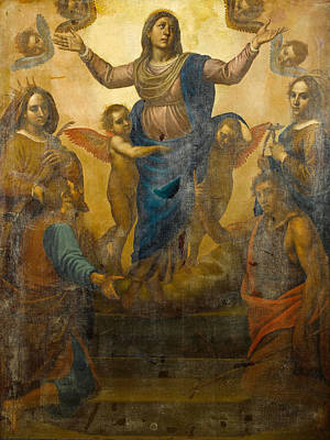 Painting - The Virgin With Saints Lucy John The Baptist And Catherine Of Alexandria With A Donor by Passignano