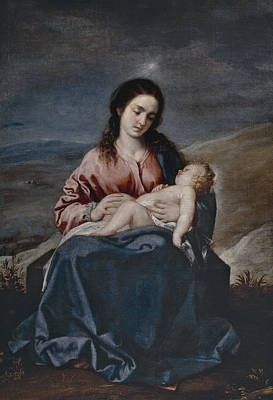 The Virgin With The Child Art Print
