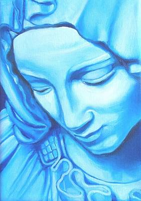 Statue Portrait Painting - The Virgin's Head by Donna Haupt