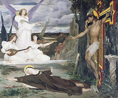 14th Century Painting - The Vision by Luc-Oliver Merson