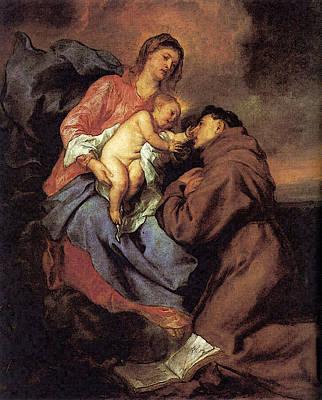 Digital Art - The Vision Of Saint Anthony  by Sir Antony van Dyck