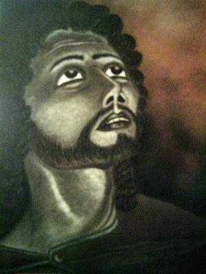 Pastel - The Vision Of St. Christopher by Alma Bella Solis