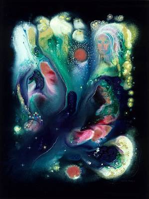 Outer Space Painting - The Vision Of St. Teresa by Lee Pantas